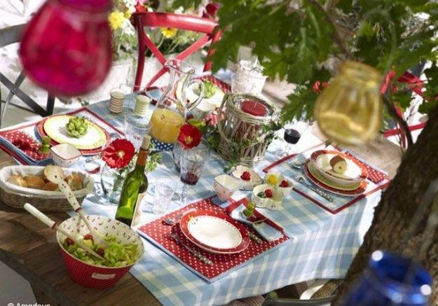 4 astuces pour r ussir sa d co de table champ tre elle - Decoration champetre campagne ...
