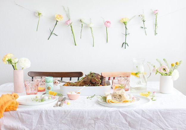 Une déco de table pastel pour Pâques