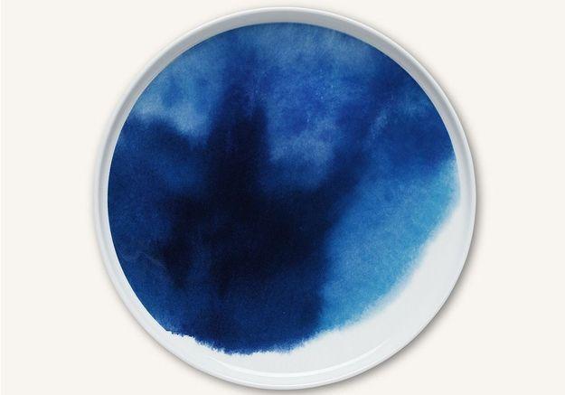 Vaisselle design : une assiette façon aquarelle