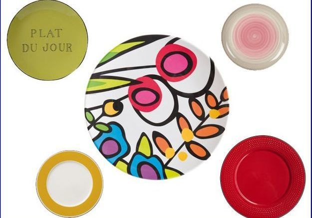 Les assiettes voient haut en couleurs !