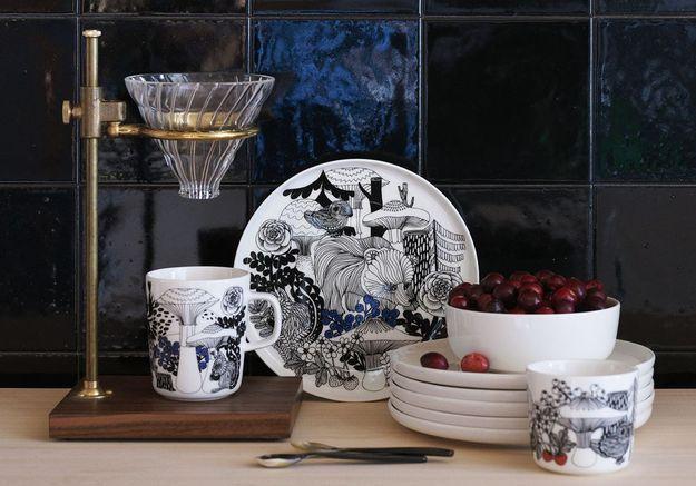 Assiette en céramique Marimekko