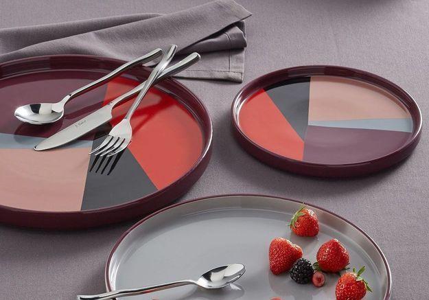 Assiette multicolore en céramique La Redoute Interieurs