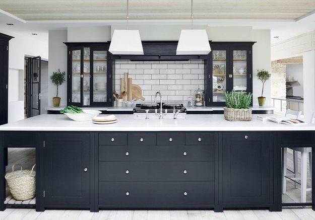 Une cuisine campagne balck & white