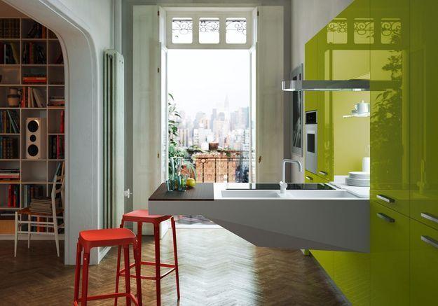Une petite cuisine ultra design