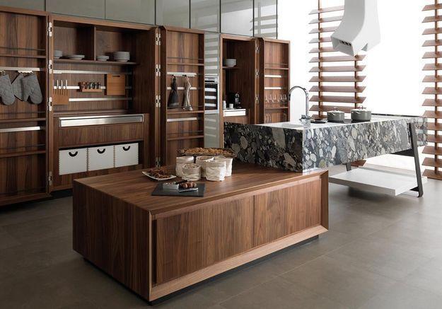 Une cuisine design sans aucune porte