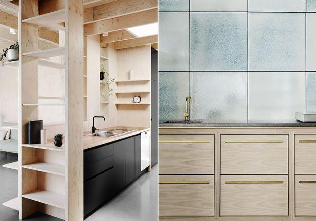 La preuve que les cuisines en bois sont contemporaines !