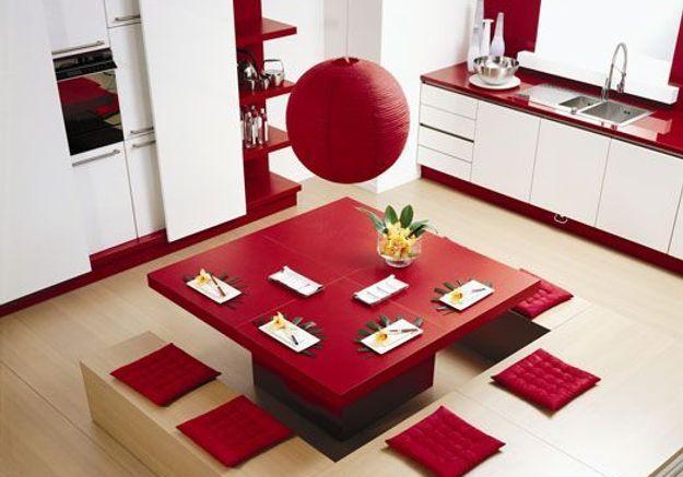 une cuisine r invent e vive la couleur elle d coration. Black Bedroom Furniture Sets. Home Design Ideas