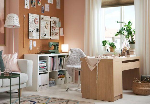 Un bureau IKEA modulable