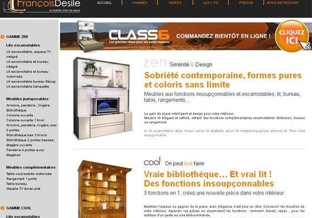 Petits espaces 10 marques conna tre elle d coration - Francois desile lit escamotable ...