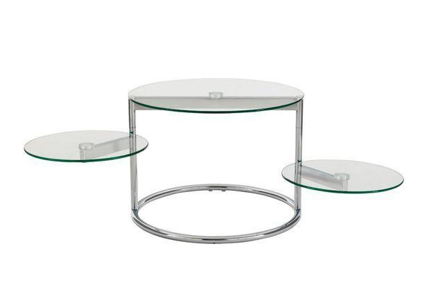 Une table basse modulable qui propose deux plateaux mobiles