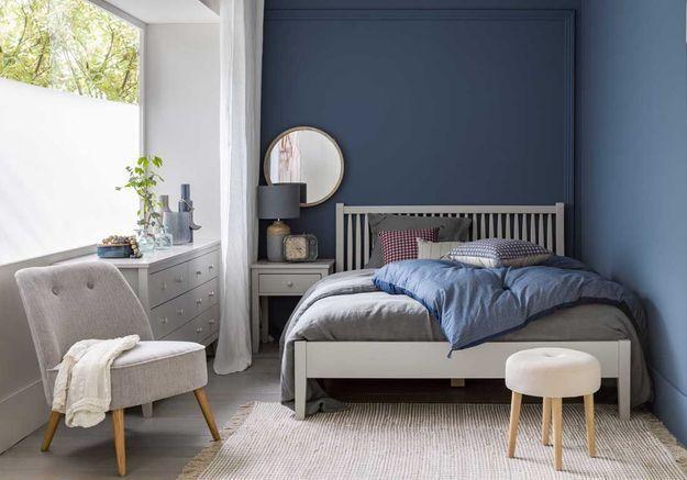 Du bleu pour une petite chambre zen