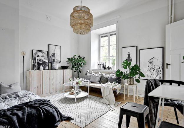 Aménager un studio en noir et blanc
