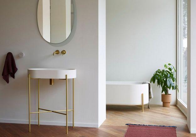 Une salle de bains design minimaliste
