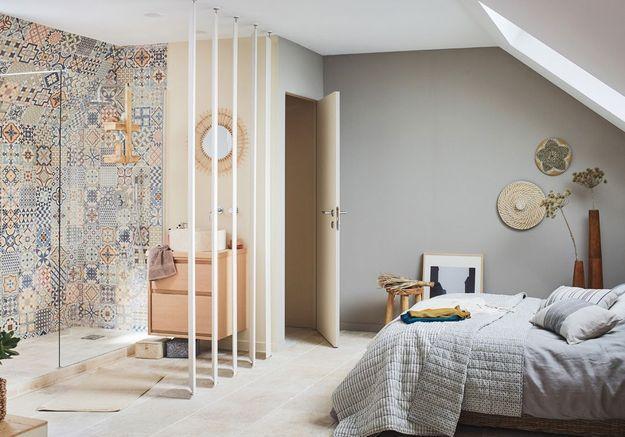 Une salle de bains design version suite parentale