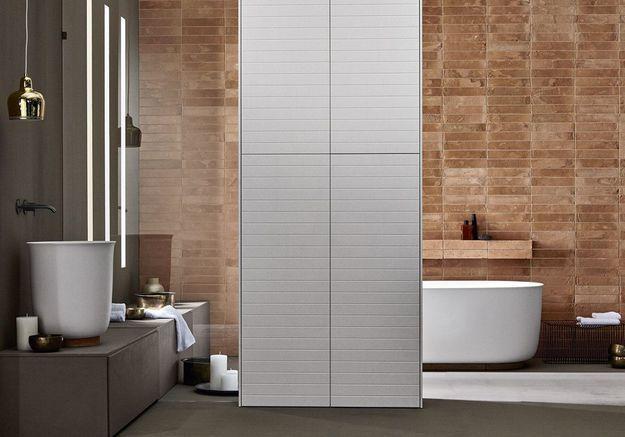 Une salle de bains design aux accents industriels