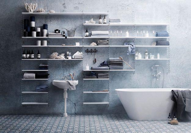 Une salle de bains design très pratique