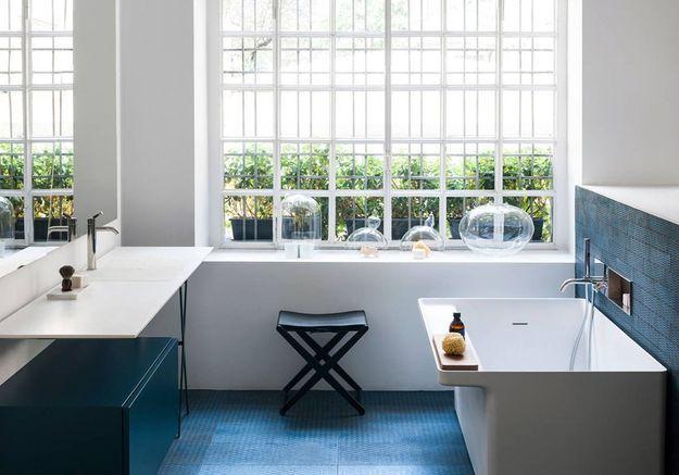 Salle de bains bleue Agape