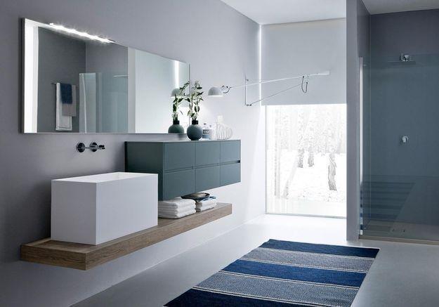 Salle de bains bleue Idea Group