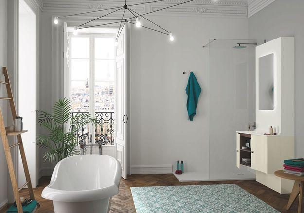 Salle de bains bleue Twido