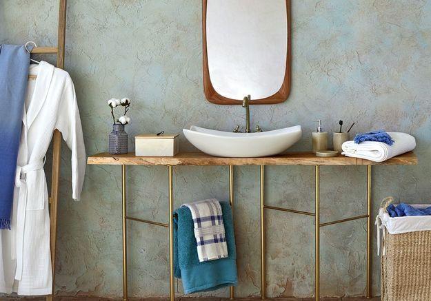 Salle de bains bleue Zara Home