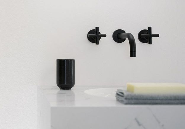 La robinetterie noire, détail ultra chic