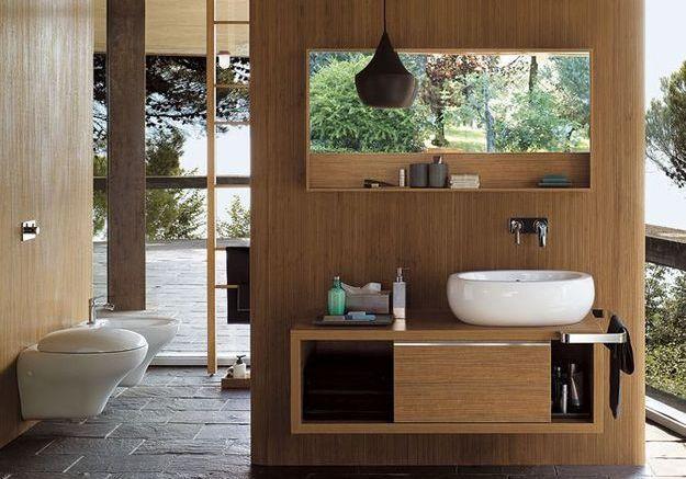 Les ambiances d'une salle de bains exotique