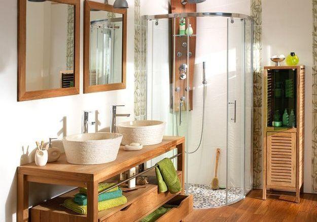 Les bons matériaux pour une salle de bains exotique