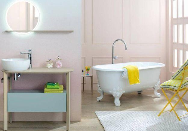 Salle de bains design et féminine