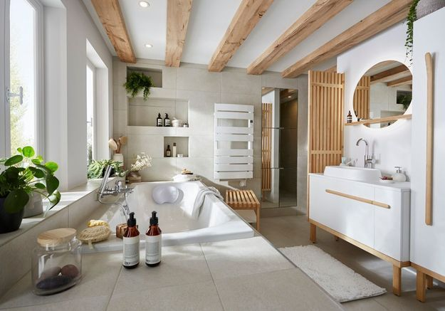 Une salle de bains Castorama qui allie authenticité et modernité