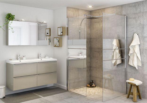 Une salle de bains Castorama qui parie sur l'élégance