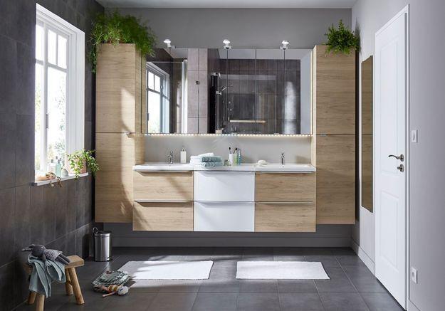 Une salle de bains Castorama qui pense famille