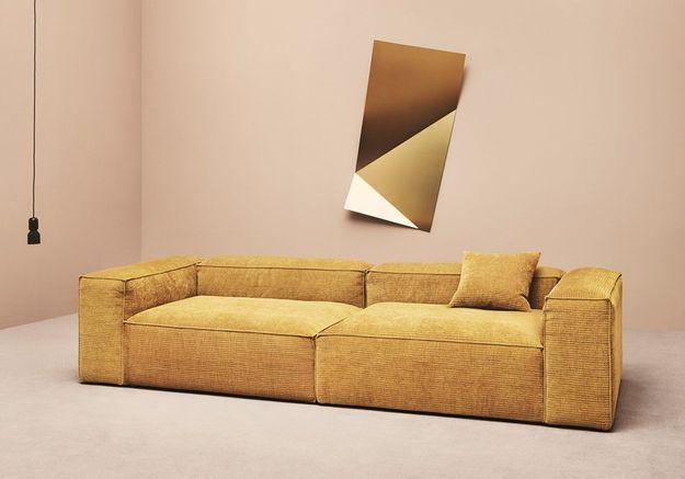 Canapé en velours Bolia
