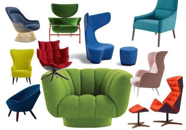 Les plus beaux fauteuils en couleur de la saison - Elle Décoration