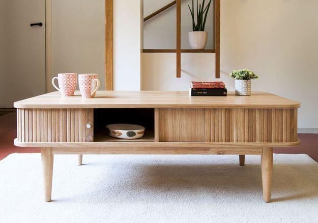 Table basse à rideaux Produit Interieur Brut