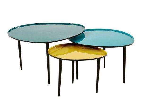 Tables basses colorées Maisons du Monde