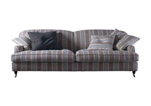 Canapé à rayures