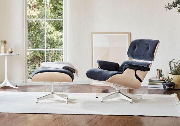 """Fauteuil design """"Lounge Chair"""" de Charles & Ray Eames, édité par Vitra"""