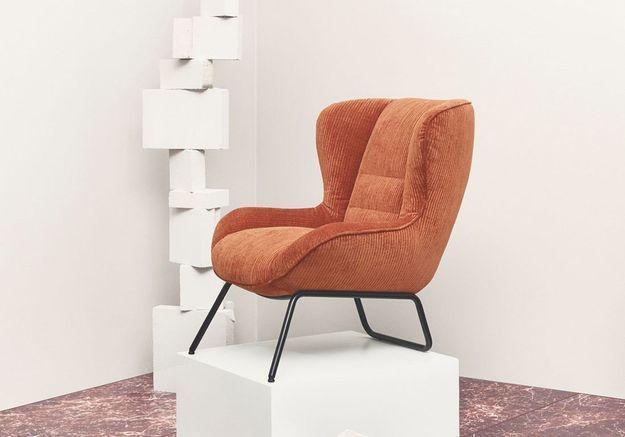 le fauteuil en velours nous fait les yeux tout doux elle d coration. Black Bedroom Furniture Sets. Home Design Ideas