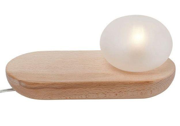 Lampe à poser en verre avec tablette