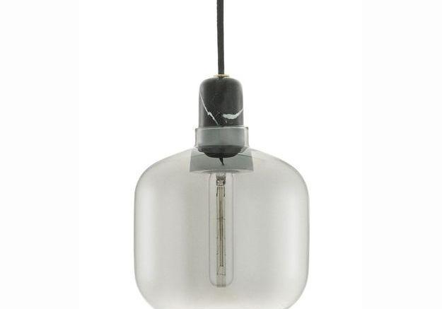 Lampe en verre et marbre