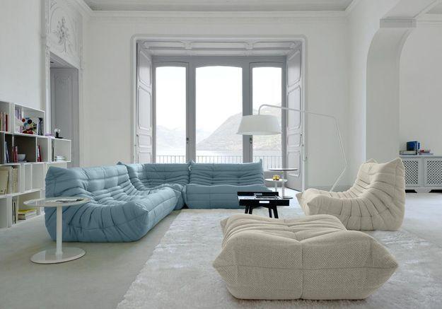 Un salon blanc à l'athmosphère très zen