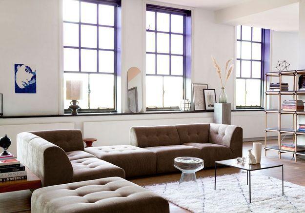 Offrez-vous un canapé en L et/ou modulable pour une salon cocooning
