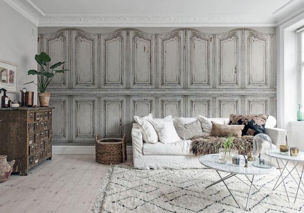 Pensez au parquet blanchi associé au tapis berbère pour un salon cocooning
