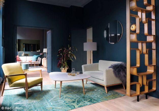 Salon bleu encre