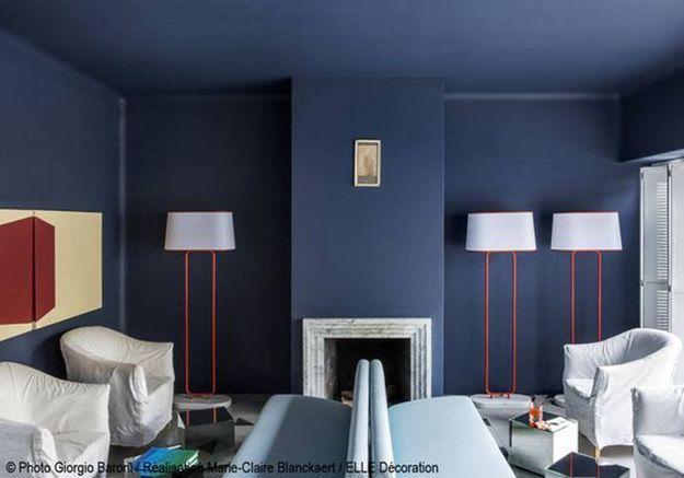 Salon bleu-gris