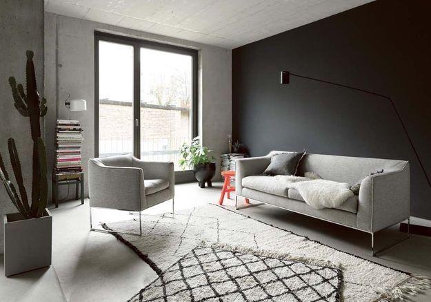 Un salon gris tout en nuances