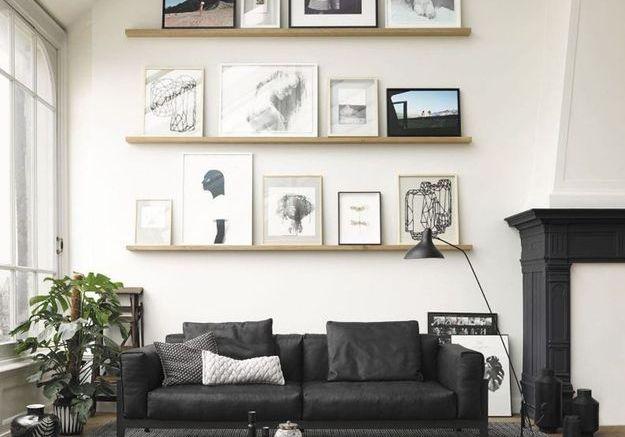 Un salon noir et blanc arty