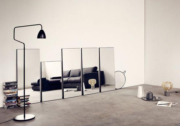 Une salon noir et blanc original