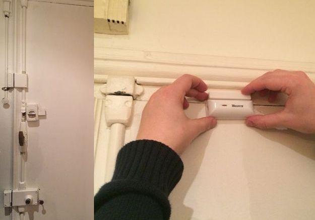Poser les détecteurs d'ouverture de l'alarme (1)