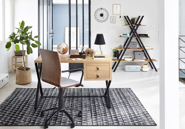coin bureau nos id es pour am nager un petit bureau la maison elle d coration. Black Bedroom Furniture Sets. Home Design Ideas